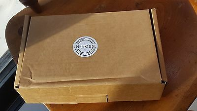 HANDMADE Modern Bedside Table Clock Analogue Wooden Home NEW In Box + Batteries