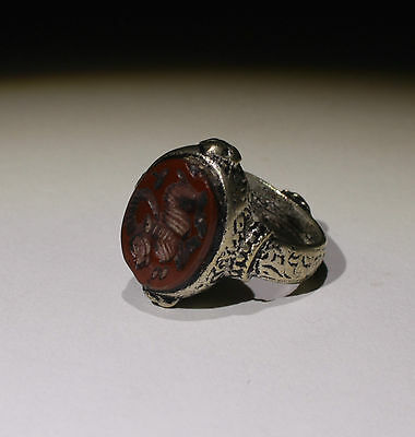 Nice Post Medieval Silver Seal Ring - No Reserve!