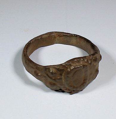 Quality Medieval Bronze Ring 14Th C  - No Reserve!!!