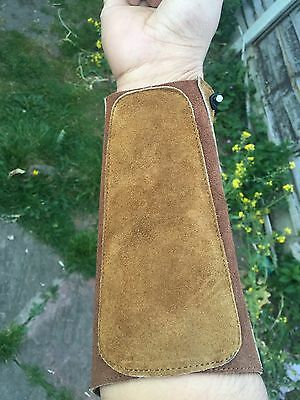 New Hand Made Cow Leather Arm Guard For Archery - Uk Stock