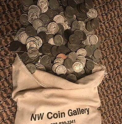 $2.00 Roll of 40 Buffalo Nickels 1913-1938 P, D, S No Date, Cull & Problem Coins
