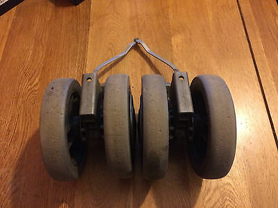 Maclaren TECHNO **REAR WHEEL SET** used plenty of tread left RARE READ CAREFULLY