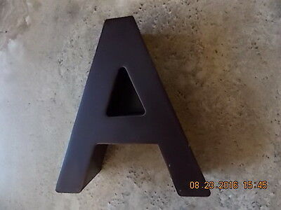 """Salvaged metal letter """"A"""""""