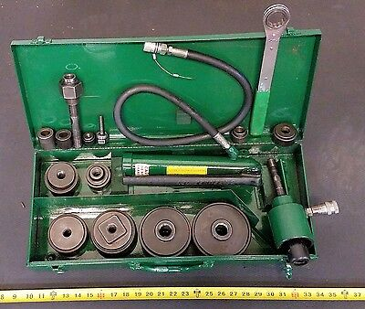"""Greenlee Enerpac Hydraulic Metal Hole Knockout Punch Punches  1/2"""" - 4"""""""