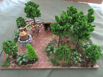 O/ON3/ON30 scale Scratch Built Moonshine Still diorama
