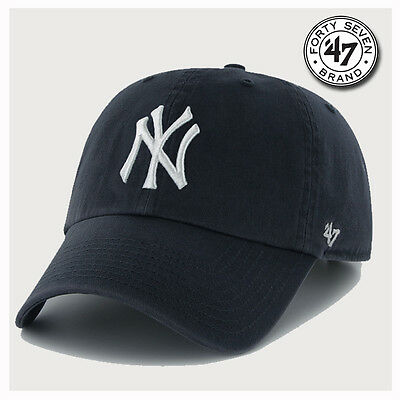 e0a5a9bac05 47 BRAND NEW York Yankees Adjustable Clean Up Dad Hat Cap Core MVP ...