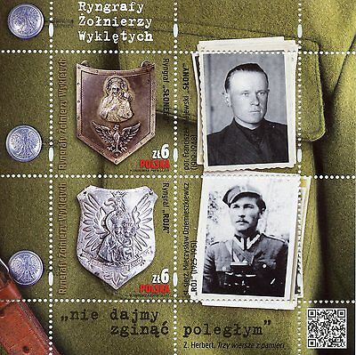 Poland 2017 MNH WWII WW2 Ryngrafs of Cursed Soldiers 2v M/S Military Stamps