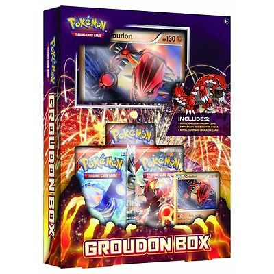 Pokemon Groudon Primal Clash Collection Box -  3 Booster Packs + Promo Cards