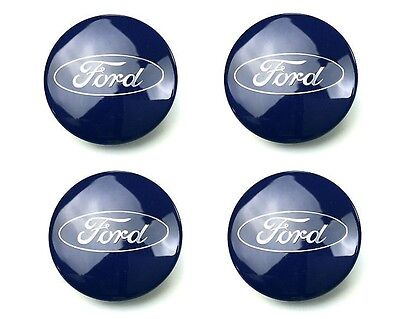 4x 54mm Ford Alloy Wheels Centre Caps Fits Most Models Focus Fiesta Mondeo