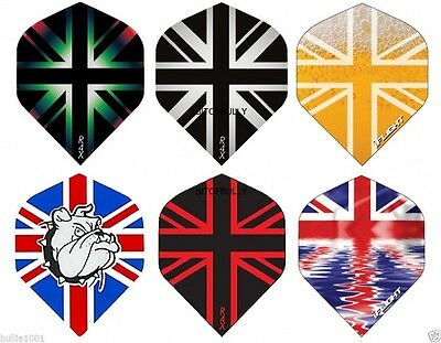 5 Sets Ruthless Union Jack  darts flights 6 Designs
