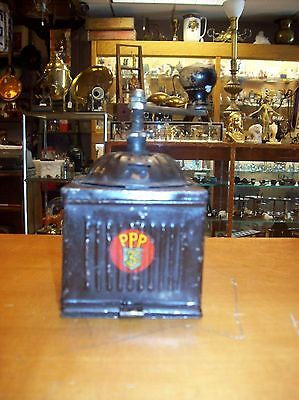 RARE Antique  Circa 1920s  PPP 3  Metal Coffee Grinder  Salesman Sample ?