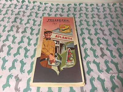 Atlantic Imperial Vintage Gas Station Road Map 1960? Philadelphia Great!