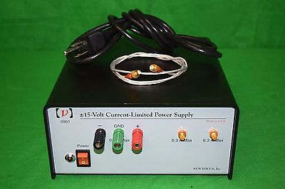 New Focus 0901 + - 15V Current Limited Power Supply