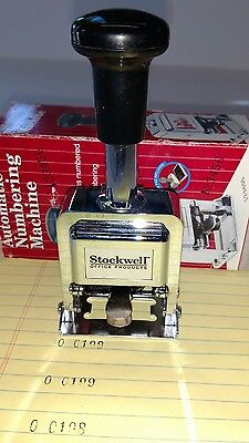 STOCKWELL AUTOMATIC NUMBERING MACHINE great working condition.