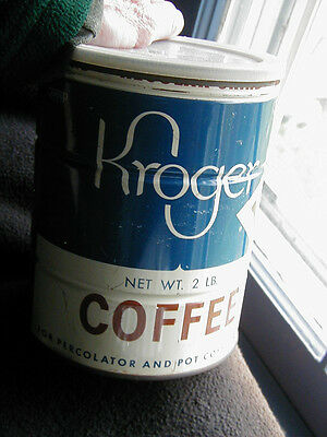 Vintage Kroger's coffee tin can 2 lb. key opening