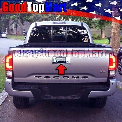 For Toyota TACOMA 2016 2017 2018 2019 Chrome Tailgate Cover W/ Key+Camera+Letter