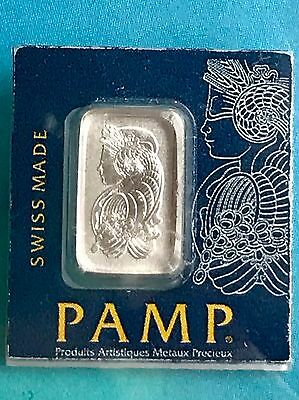1 gram Platinum Bar - PAMP Suisse - Fortuna - 999.5 Fine in Sealed Assay