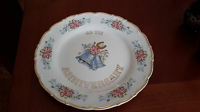 40th Anniversay Cake Plate by MZ Czechoslovakia