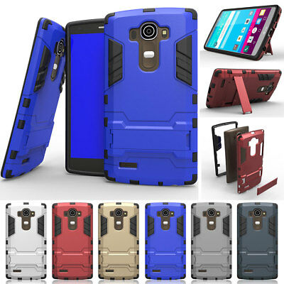 Shockproof Rubber Heavy Duty Armor Built-in Kickstand Hard Case Cover For LG K10