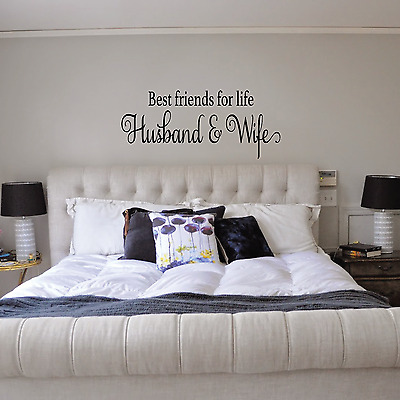 husband wife love quote modern home decor bedroom wall decal sticker