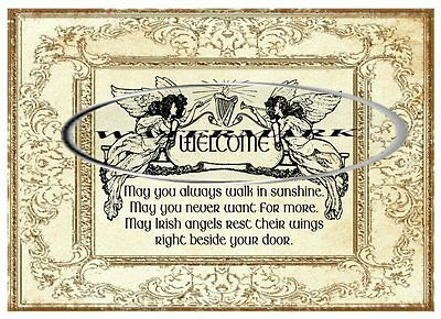 "Irish Blessing (B)  - 5 x 7"" - Cotton"