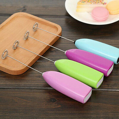 Mini Handle Electric Frother Foamer Whisk Mixers Stirrer Coffee Cream Egg Beater