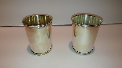 Two Alvin mint julep sterling silver cups S 251
