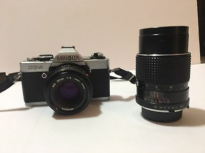 Minolta XG-A 35mm SLR Film Camera with Zoom Lens Vintage