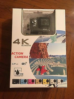 Full 4K/1080p WiFi Action Camera DV Waterproof Complete w Charger 3 Batteries!!