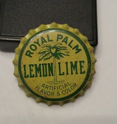Royal Palm Lemon-Lime Soda Pop Bottle Cap; Florida; Unused Cork