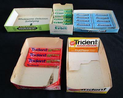 1980's VINTAGE TRIDENT FREEDENT ORBIT BUBBLE GUM STORE DISPLAY LOT