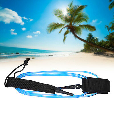 Adjustable Surfboard Surf Board Leash Leg Rope Double Stainless Swivels AM