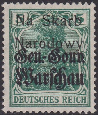 1918 Poland Poczta Polska Wloclawek Local Overprint Germania Fischer Expertised