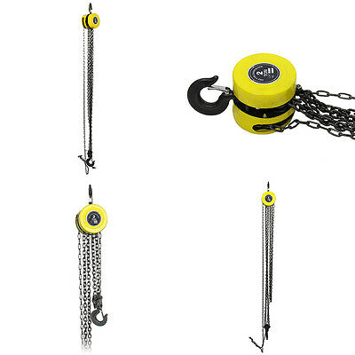 Heavy Duty Chain Hoist Pulley Tool 2 Ton Load Lifting Block Tackle Engine Winch