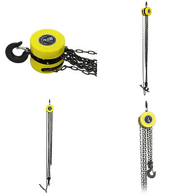 Heavy Duty Chain Hoist Pulley Tool Tackle Engine Winch 2 Ton Load Lifting Block
