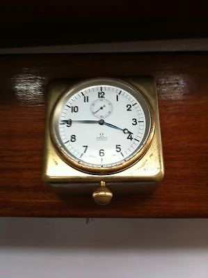 1940s brass Omega ship's clock