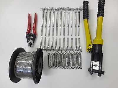 Balustrade Starter Fixing Kit - Cutters, Swager. Cable, Turnbuckle Kits complete