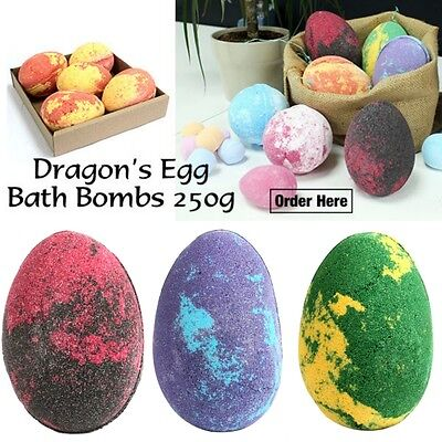 Dragon's Egg Bath Bomb - 250g Huge Jumbo Large UK Handmade Easter Smells Lush!