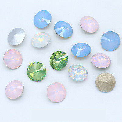 8-18mm Rivoli crystal opal color pointed back rhinestones Nail Art jewelry beads