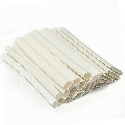 20pcs White Assortment Heat Shrink Tubing Kit Tube Sleeving Wrap Wire 6.4-12.7mm