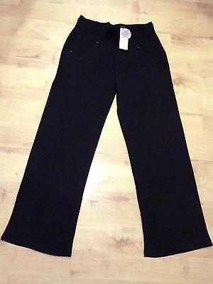 Women's Full Length Stretch Track Pants Black Size 10,12,14,16