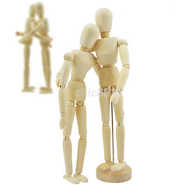 Wooden Manikin Figures Jointed Model Painting Artist Drawing Sketch Mannequin au