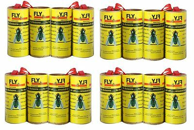 16Pack Fly Paper Insect sticky Trap Strips Fly Catcher Trap Fly Ribbons Fly Bait