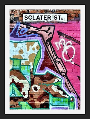 Sclater Street Pink London Shoreditch A3 Wall Art Print - Limited Edition Of 100