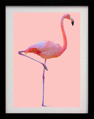 Flamingo Pink Art Deco A3 Poster Wall Art Animal Print - Limited Edition Of 100