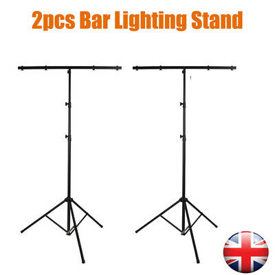 2pcs 3M Adjustable Heavy Duty T Bar Lighting Tripod Stand Flash Light Stand