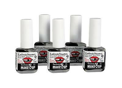 FANCY DRESS Black Tooth Paint Make Up (pack of 5)