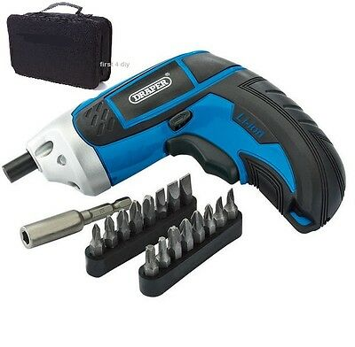 Draper 3.6V Li Ion Lithium Rechargeable Battery Cordless Screwdriver Drill 64661