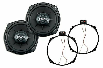 2x Earthquake Sound SWS-8Xi High Performance Shallow Sub + 1 PAIR Ring Adapters