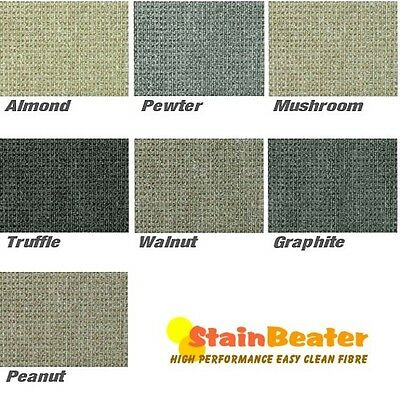 Berber Style Loop Pile Carpet Stain Resistant Hard Wearing Lounge Stairs Bedroom